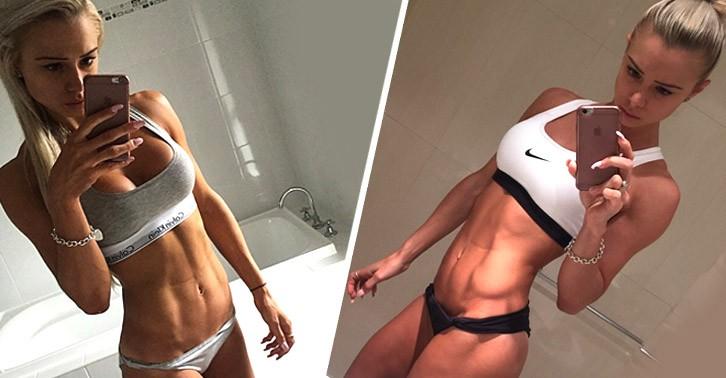 Optimální off season závodnice bikini Lauren Simpson.